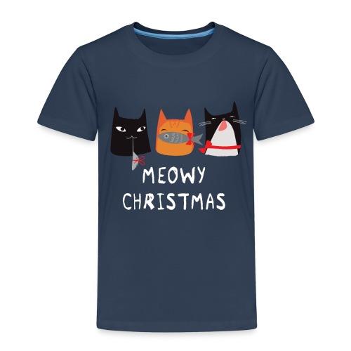 Kids' Meowy Christmas Cats - Kinder Premium T-Shirt