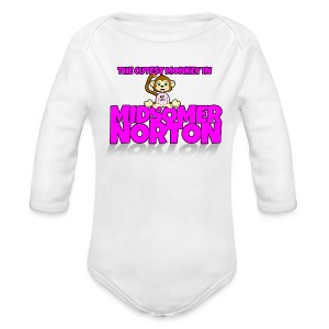 Cutest Monkey in Midsomer Norton - Organic Longsleeve Baby Bodysuit