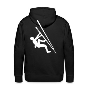 Guys sweatshirt with logo on the back - Men's Premium Hoodie