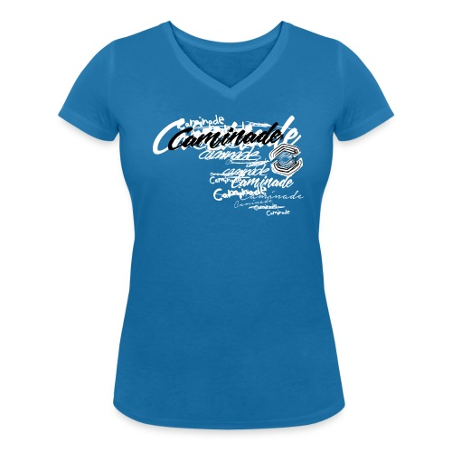 Tshirt (W) TRASH CAMINADE Logo BN - T-shirt bio col V Stanley & Stella Femme