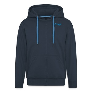 Hoodie Jacket Navy Unisex - Men's Premium Hooded Jacket
