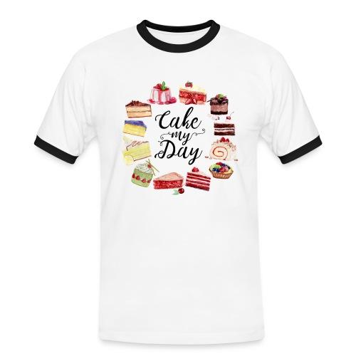 Cake My Day - Männer Kontrast-T-Shirt