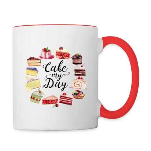 Cake My Day - Tasse zweifarbig