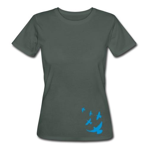 Bio Fair-T-Shirt mit Tauben - Frauen Bio-T-Shirt