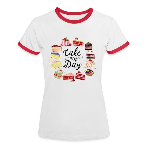 Cake My Day - Frauen Kontrast-T-Shirt
