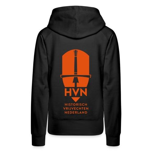 damesvest met rits, volledig logo - Vrouwen Premium hoodie