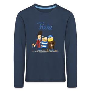 'Friends' Fiete Kids Longsleeve - navy - Kinder Premium Langarmshirt