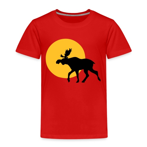 Moose kid (small) - Premium T-skjorte for barn
