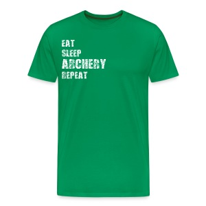Männer T-Shirt - EAT SLEEP ARCHERY REPEAT - Männer Premium T-Shirt