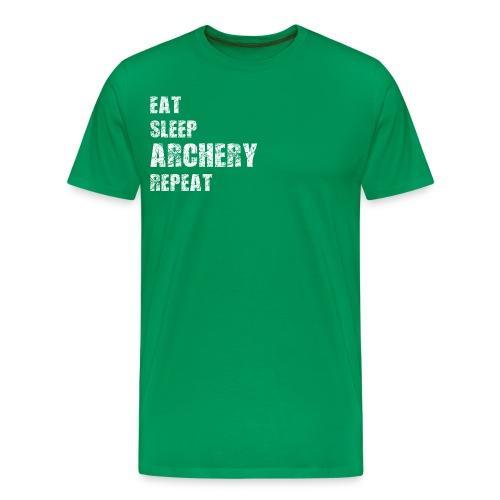 Männer T-Shirt - EAT SLEEP ARCHERY REPEAT - Männer Premium T-Shirt