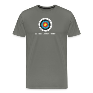Männer T-Shirt - EAT - SLEEP - ARCHERY - REPEAT - Männer Premium T-Shirt