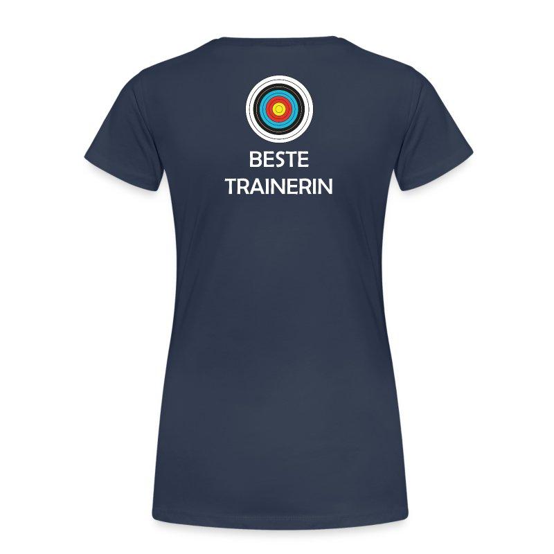 Frauen T-Shirt mit V-Ausschnitt - Beste Trainerin - Frauen Premium T-Shirt