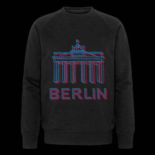 Berlin, Brandenburger Tor 3D - Männer Bio-Sweatshirt von Stanley & Stella