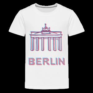 Berlin, Brandenburger Tor 3D - Teenager Premium T-Shirt