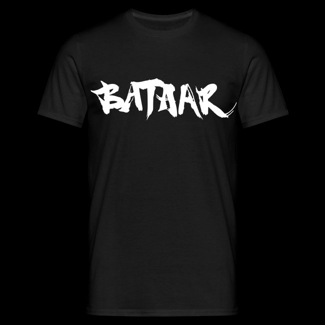BatAAr LOGO Boys White on Black T-shirt