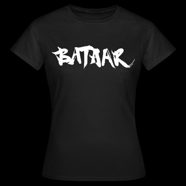 BatAAr LOGO Girls White on Black T-shirt