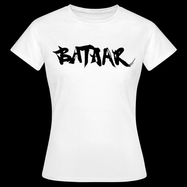 BatAAr LOGO Girls Black on White T-shirt