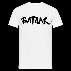 BatAAr LOGO Boys Black on White T-shirt - Men's T-Shirt