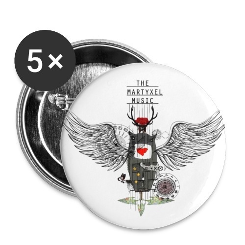 Buttons   5 pack (large) - Buttons klein 25 mm