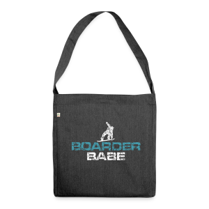 Boarder Babe (Vintage Weiß/Blau) Recycling Tasche - Schultertasche aus Recycling-Material