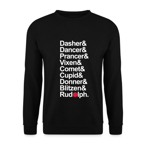 Reindeer Names - Mens Black Sweathshirt. - Men's Sweatshirt