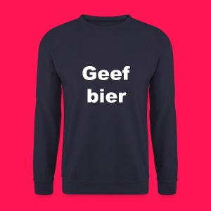 Mannen sweater 'Geef bier' - Mannen sweater