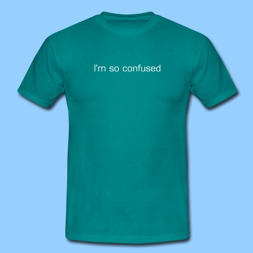 Confused (men's) - Men's T-Shirt