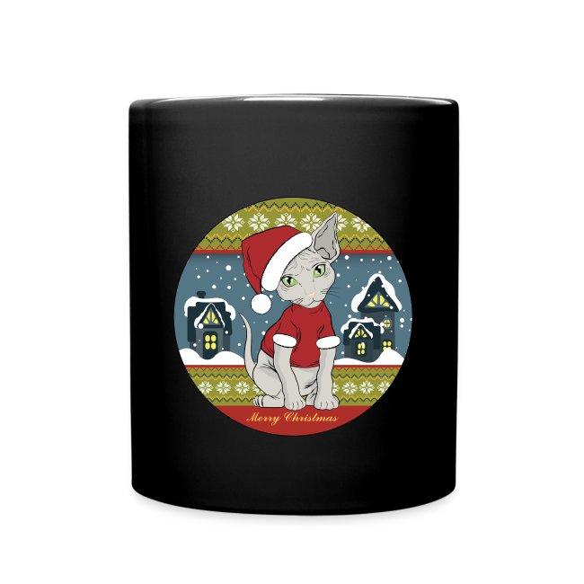 mug Sphynx Christmass