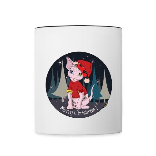 mug merry Christmass - Tazze bicolor