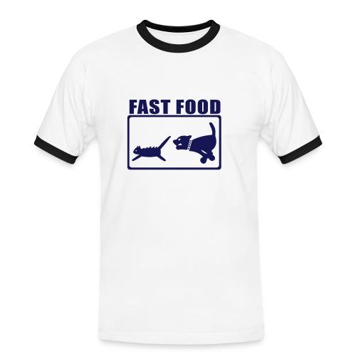 FAST FOOD - T-shirt contrasté Homme