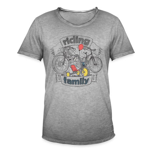 Riding family - T-shirt vintage Homme