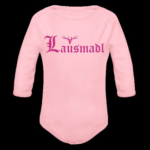 Lausmadl mit Hirsch - Baby Bio-Langarm-Body