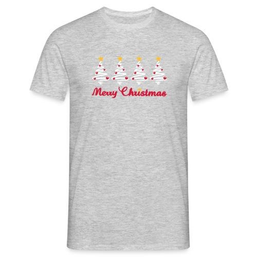Weihnachten - Weihnachtsbaum mit Sternen - Männer T-Shirt