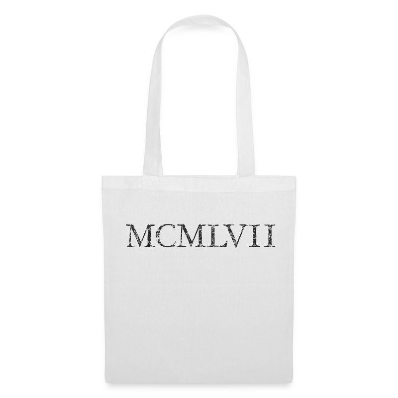 tote bag mcmlvii 1957 roman ann e anniversaire spreadshirt. Black Bedroom Furniture Sets. Home Design Ideas
