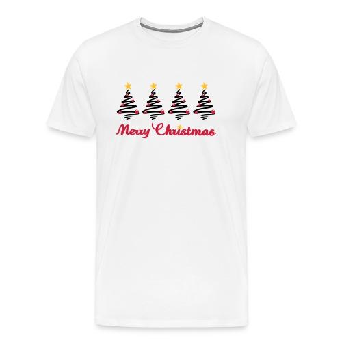 Weihnachten - Weihnachtsbaum mit Sternen - Männer Premium T-Shirt