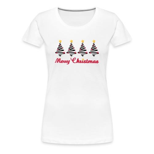 Weihnachten - Weihnachtsbaum mit Sternen - Frauen Premium T-Shirt