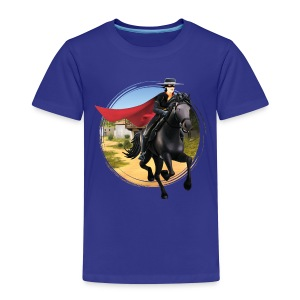 Zorro The Chronicles Riding Horse Tornado - Maglietta Premium per bambini