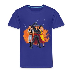 Zorro The Chronicles Zorro Bernado Ines Laserschwert - Kinder Premium T-Shirt