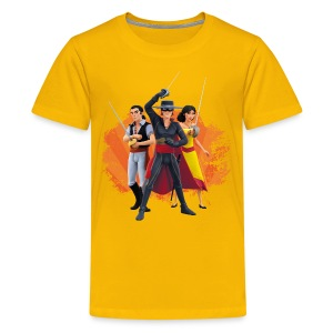 Zorro The Chronicles Zorro Bernado Ines Laserschwert - Teenager Premium T-Shirt