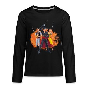 Zorro The Chronicles Zorro Bernado Ines Laserschwert - Teenager Premium Langarmshirt