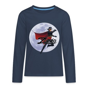 Zorro The Chronicles Zorro Pose mit Mond - Teenager Premium Langarmshirt