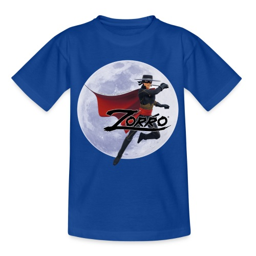 Zorro The Chronicles Zorro Pose mit Mond - Teenager T-Shirt