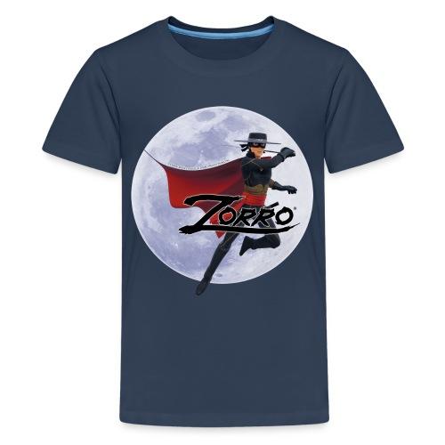 Zorro The Chronicles Zorro Pose mit Mond - Teenager Premium T-Shirt