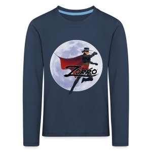 Zorro The Chronicles Zorro Pose mit Mond - Kinder Premium Langarmshirt