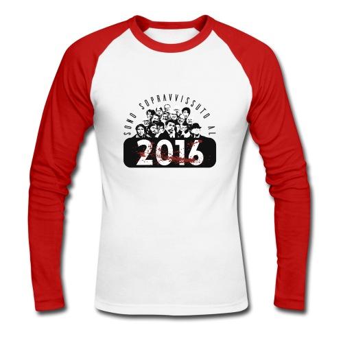 La tshirt del 2016 (M) - Maglia da baseball a manica lunga da uomo