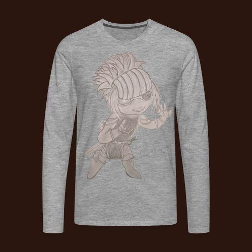[2016] Sweatshirt mit Sketch bis 5XL - Männer Premium Langarmshirt