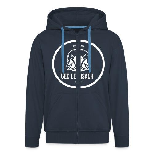 Hoody mit Zip dunkelblau - Männer Premium Kapuzenjacke
