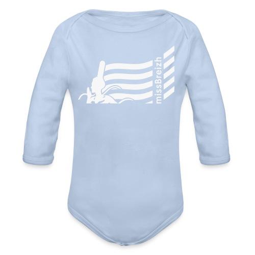body bébé missbreizh - flex paillette blanc - Body bébé bio manches longues
