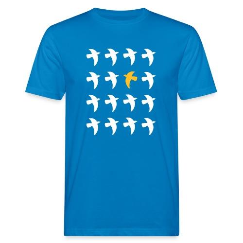 Bio Fair-T-Shirt mit Tauben - Männer Bio-T-Shirt