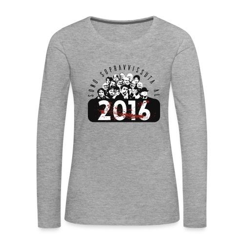 La tshirt del 2016 (F) - Maglietta Premium a manica lunga da donna